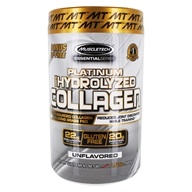 Essential Series Platinum 100% Hydrolyzed Collagen Powder Bonus Size Unflavored - 1.52 lbs. by Muscletech Products