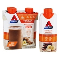 RTD Protein-Rich Energy Shakes Banane au chocolat - 4 Pack by Atkins