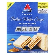 Protein Wafer Crisps Snack Peanut Butter - 5 Bars by Atkins