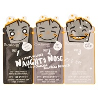 3 Step Charcoal Blackhead Remover Naughty Nose - 3 Strip(s) by The Creme Shop