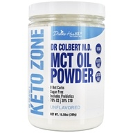 Pó de óleo MCT Keto Zone do Dr. Colbert sem sabor - 10.58 oz. by Divine Health