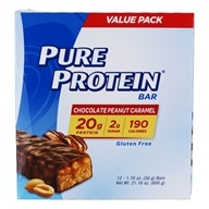 Protein Bar Value Pack Chocolate Peanut Caramel - 12 Bars