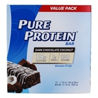 Protein Bar Value Pack Dark Chocolate Coconut - 12 Bars