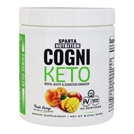 CogniKeto Mental Acuity & Cognition Enhancer Powder Peach Mango - 8.47 oz. by Sparta Nutrition