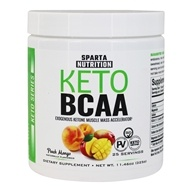 Keto BCAA Exogenous Ketone Muscle Mass Accelerator Powder Peach Mango - 11.46 oz.