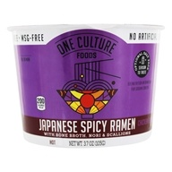 Japanese Spicy Ramen Bowl with Bone Broth, Nori, and Scallions Chicken Flavor - 3.7 oz. by One Culture Foods