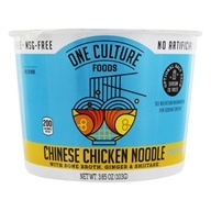 Chinese Chicken Noodle Bowl with Bone Broth, Ginger, and Shiitake Chicken Flavor - 3.65 oz. by One Culture Foods
