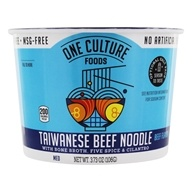 Taiwanese Beef Noodle Bowl with Bone Broth, Five Spice and Cilantro Beef Flavor - 3.73 by One Culture Foods
