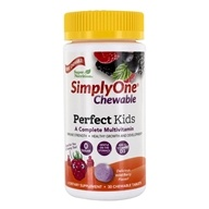 Simply One Kautabletten Perfect Kids Komplett Multivitamin Wild-Berry - 30 Chewable Tablets by Super Nutrition