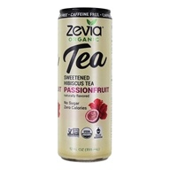 Organic Sweetened Hibiscus Tea Caffeine Free Passion Fruit - 12 fl. oz. by Zevia