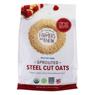 Gluten Free Sprouted Steel Cut Oats - 24 oz. by One Degree Organic Foods