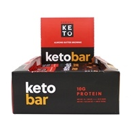 Keto Bars Box Almond Butter Brownie - 12 Bars