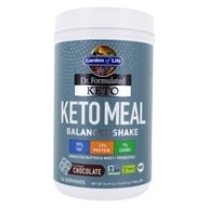 Dr. Formulated Keto Meal Balanced Shake Powder 14 Servings Fair Trade Chocolate - 24.69 oz. by Garden of Life