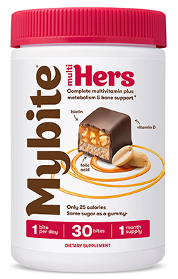 Multi Hers Complete Multivitamin Plus Metabolismo e supporto osseo Dark Chocolatey - 60 Bites by MyBite Vitamins