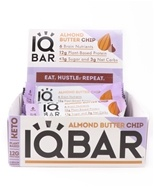 Brain + Body Bars Box Amandel Boter Chip - 12 Bars by IQ Bar