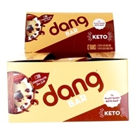 Plant Based Keto Bars Box Chocolate Sea Salt - 12 Bars by Dang