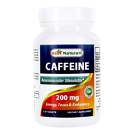 Caffeine Neuromuscular Stimulator Support 200 mg. - 120 Tablets by Best Naturals