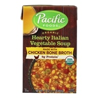 Organic Hearty Italian Vegetable Soup with Chicken Bone Broth - 17 oz. by Pacific Foods