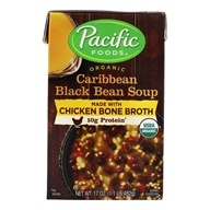 Organic Caribbean Black Bean Soup with Chicken Bone Broth - 17 oz. by Pacific Foods