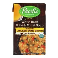 Organic White Bean Kale & Millet Soup with Chicken Bone Broth Soup - 17 oz. by Pacific Foods