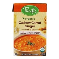 Organic Cashew Carrot Ginger Bisque - 17.6 oz. by Pacific Foods