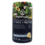 Complete Plant Keto Blend 1:1 Fats + Protein Powder 10 Servings Creamy Vanilla Bean - 10.58 oz. by PlantFusion