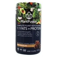 Complete Plant Keto Blend 1:1 Fats + Protein Powder 10 Servings Rich Chocolate - 11.11 oz. by PlantFusion