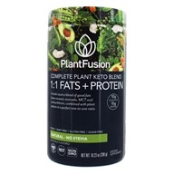 Complete Plant Keto Blend 1:1 Fats + Protein Powder 10 Servings Natural - No Stevia - 10.23 oz. by PlantFusion
