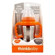 Sippy of Steel Cup Soft Spout Trainer Stage C 9 to 36 months Orange - 9 oz.