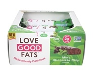 Keto Vriendelijke Snack Bar Box Mint Chocolate Chip - 12 Bars by Love Good Fats