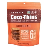 Snackable Coco Thins Cashew Cookies De Chocolate - 3.5 oz. by Sejoyia Foods
