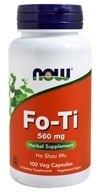 NOW Foods - Fo-Ti Herbal Supplement - Ho Shou Wu 560 mg. - 100 Capsules (733739046758)