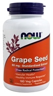 NOW Foods - Grape Seed Antioxidant Standardized Extract 60 mg. - 180 Vegetarian Capsules - $13.90