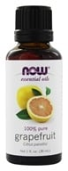 Image of NOW Foods - Grapefruit Oil - Citrus Paradisi 100% Pure and Natural - 1 oz.