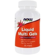 Image of NOW Foods - Liquid Multi Gels Multivitamin & Mineral - 180 Softgels