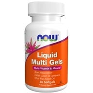 NOW Foods - Liquid Multi Gels Multivitamin & Mineral - 60 Softgels, from category: Vitamins & Minerals