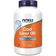 NOW Foods - Cod Liver Oil Double Strength 650 mg. - 250 Softgels (733739017420)