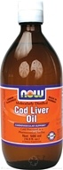NOW Foods - Cod Liver Oil - Molecularly Distilled - Made in Norway Lemon Flavored (500 mL) - 16.9 oz.