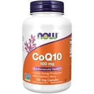 Image of NOW Foods - CoQ10 Cardiovascular Health with Hawthorn Berry 100 mg. - 180 Vegetarian Capsules