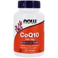 NOW Foods - CoQ10 Cardiovascular Health 100 mg. - 150 Softgels (733739032096)