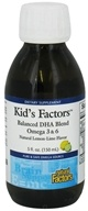 Image of Natural Factors - Kid's Factors Balanced DHA Blend Omega 3 & 6 Liquid Natural Lemon-Lime Flavor - 5 oz. Formery Learning Factors