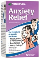 NaturalCare - Anxiety Relief - 120 Tablets, from category: Homeopathy