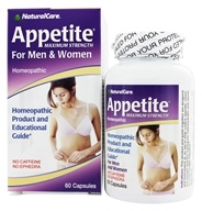 NaturalCare - Appetite Suppressant Homeopathic For Men and Women - 60 Capsules (705692382600)