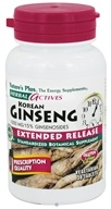 Nature's Plus - Herbal Actives Korean Ginseng Extended Release 1000 mg. - 30 Tablets