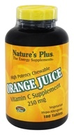 Image of Nature's Plus - Orange Juice Chewable Vitamin C 250 mg. - 180 Chewable Tablets