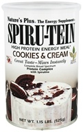 Nature's Plus - Spiru-Tein High Protein Energy Meal Cookies & Cream - 1.15 lbs.
