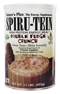 Nature's Plus - Spiru-Tein High Protein Energy Meal Double Fudge Crunch - 1.1 lbs. by Nature's Plus
