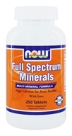 NOW Foods - Full Spectrum Minerals Multi-Mineral Formula - 250 Tablets