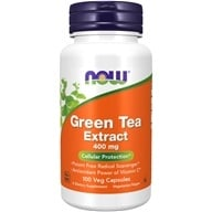 NOW Foods - Green Tea Extract 60% 400 mg. - 100 Capsules by NOW Foods
