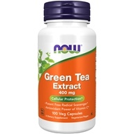 Image of NOW Foods - Green Tea Extract 60% 400 mg. - 100 Capsules